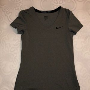 Tops - NIKE dry-fit compression shirt. GREY. SIZE M.